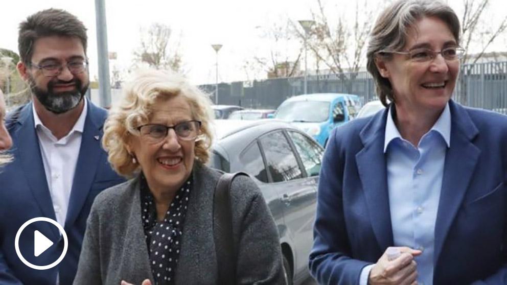 Carlos Sánchez Mato, Manuela Carmena y Marta Higueras. (Foto. Madrid)