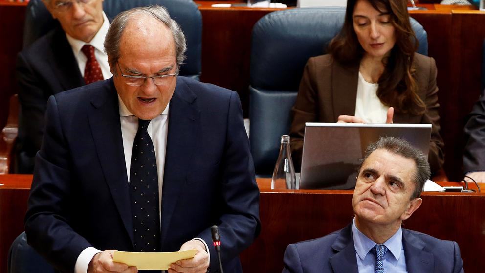 Ángel Gabilondo y José Manuel Franco en la Asamblea de Madrid. (Foto: EFE) | Máster Cristina Cifuentes
