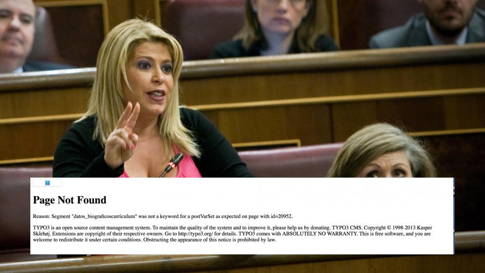 Mamen Sánchez, alcaldesa de Jerez, en el Congreso de los Diputados. (Foto: PSOE)