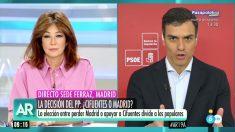 Pedro Sánchez en 'El programa de Ana Rosa'.