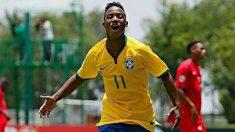 Ramón de Araújo, durante un partido con las selecciones inferiores de Brasil. (Facebook)