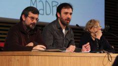 El cesado Toño Hernández, Nacho Murgui y Manuela Caremena. (Foto. Ahora Madrid)