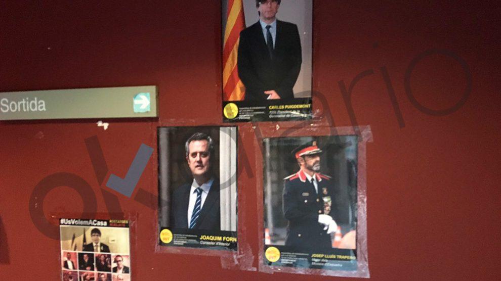Fotos de los golpistas en la Consejería de Interior