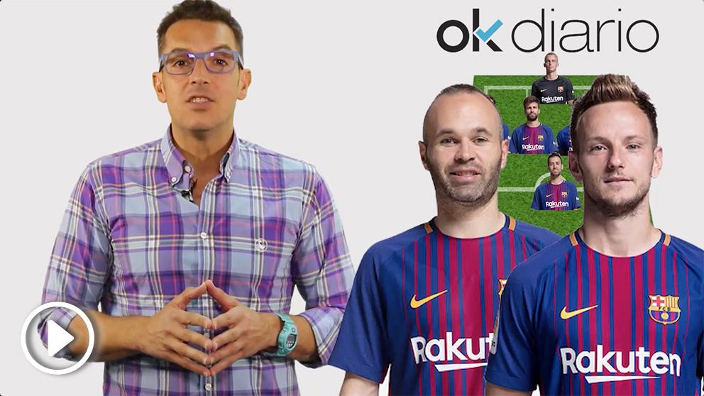 La alineación del Barcelona no presenta sorpresas: Valverde sale con todo en el Wanda.