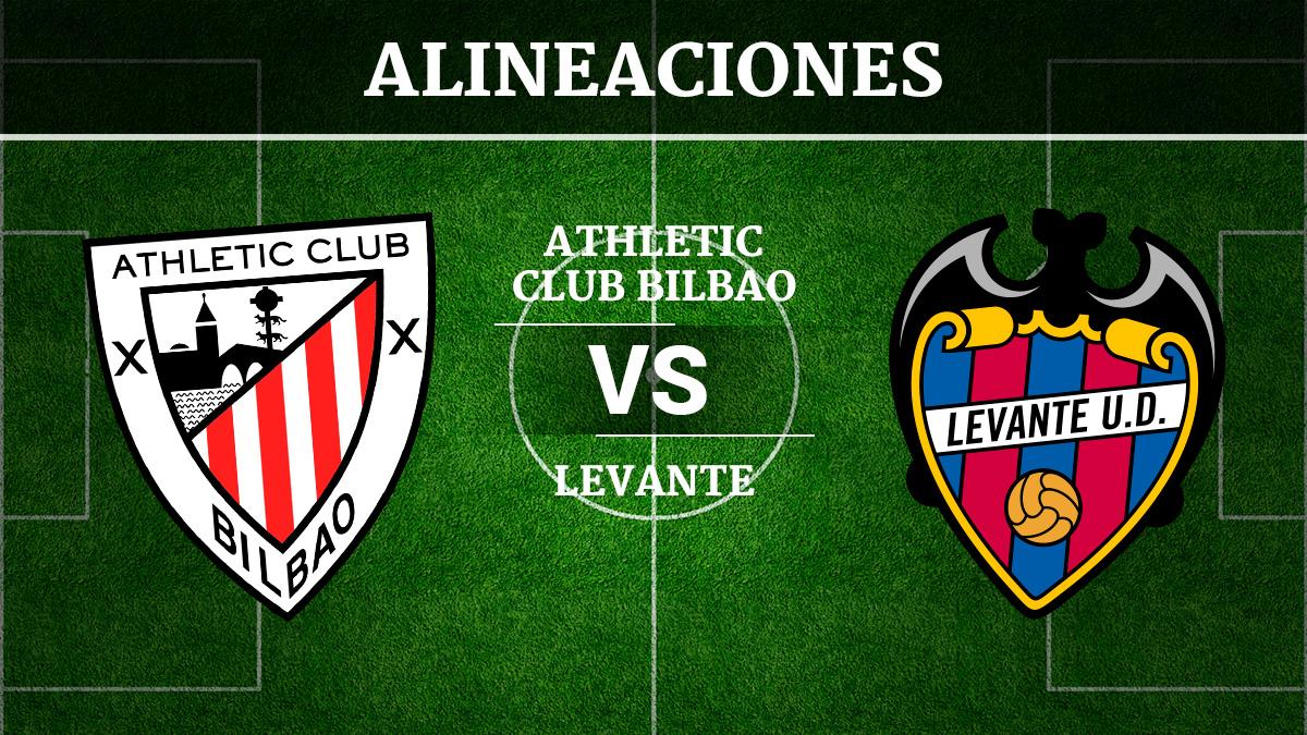 Consulta las posibles alineaciones del Athletic de Bilbao vs Levante.