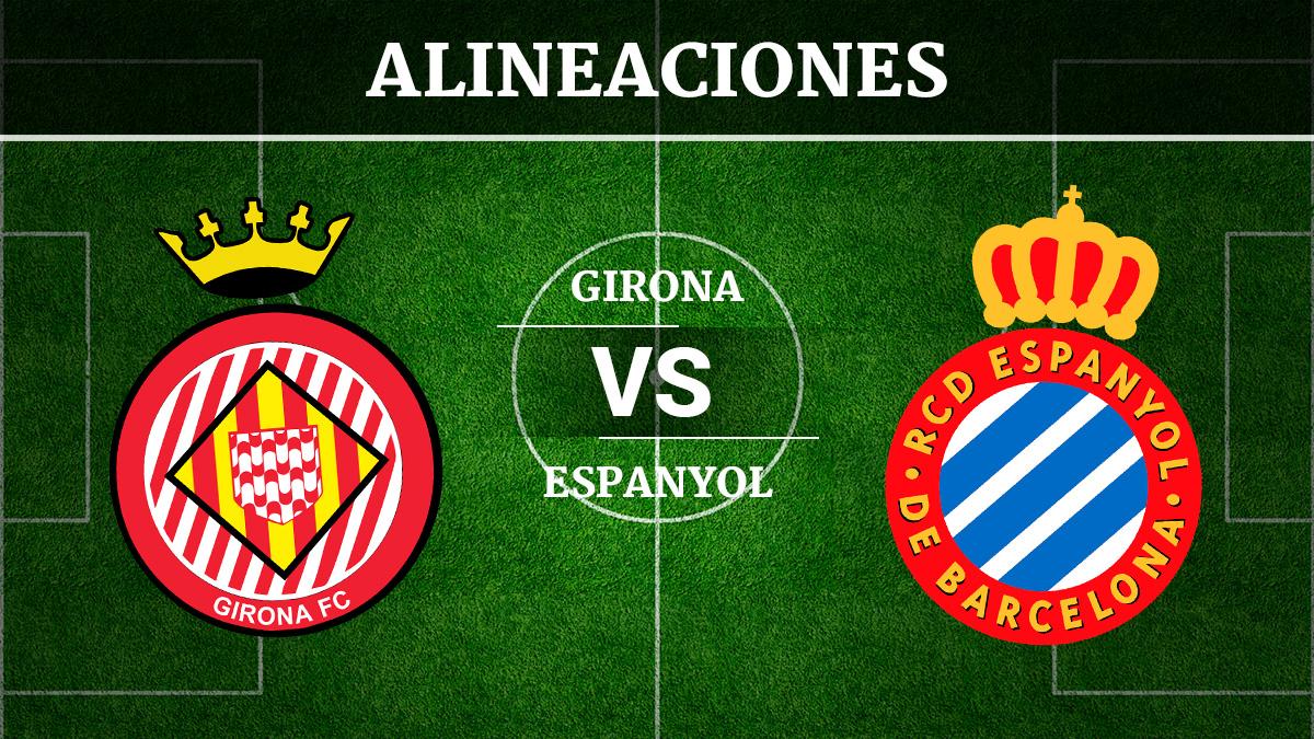 Consulta las posibles alineaciones del Girona vs Espanyol.