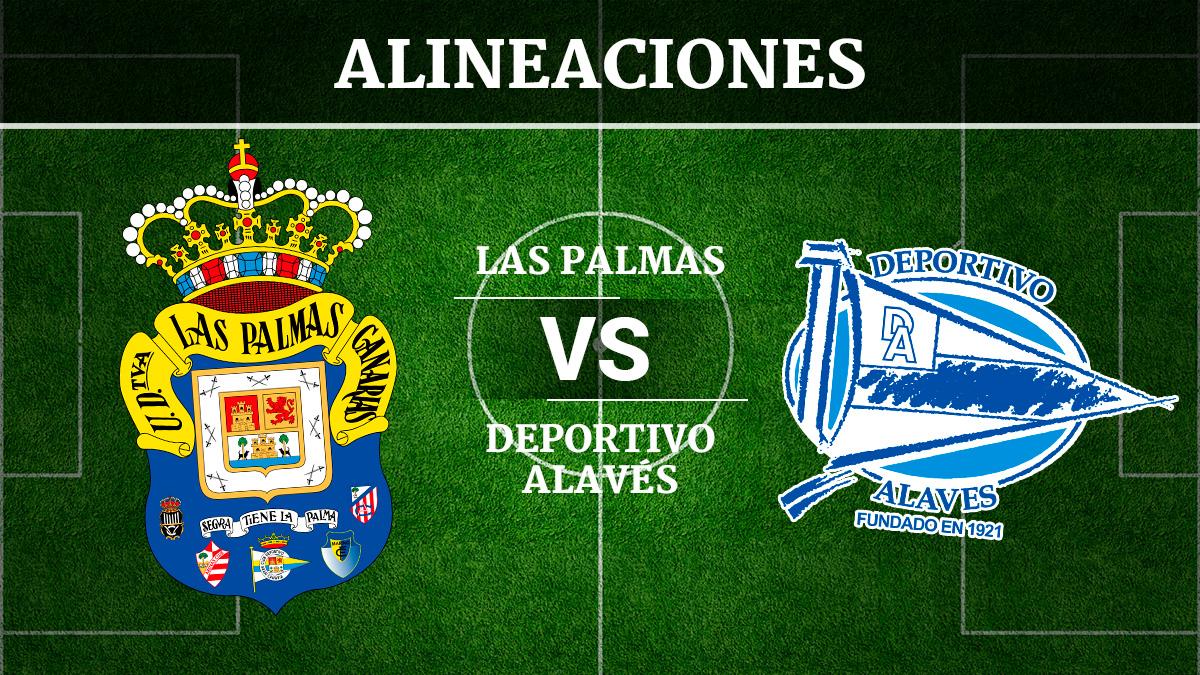 Consulta las posibles alineaciones del Las Palmas vs Alavés.