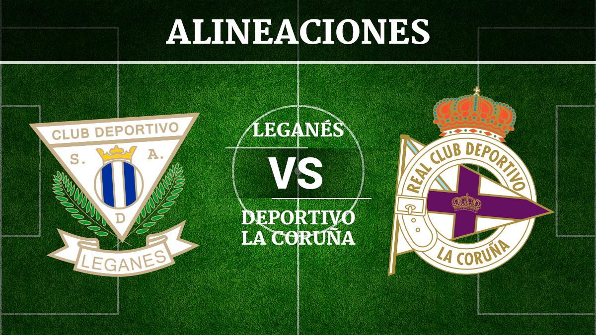 Consulta las posibles alineaciones del Leganés vs Deportivo de la Coruña.