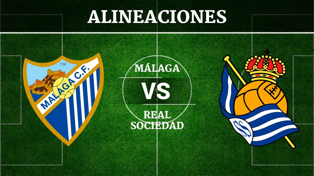 Consulta las posibles alineaciones del Málaga vs Real Sociedad.