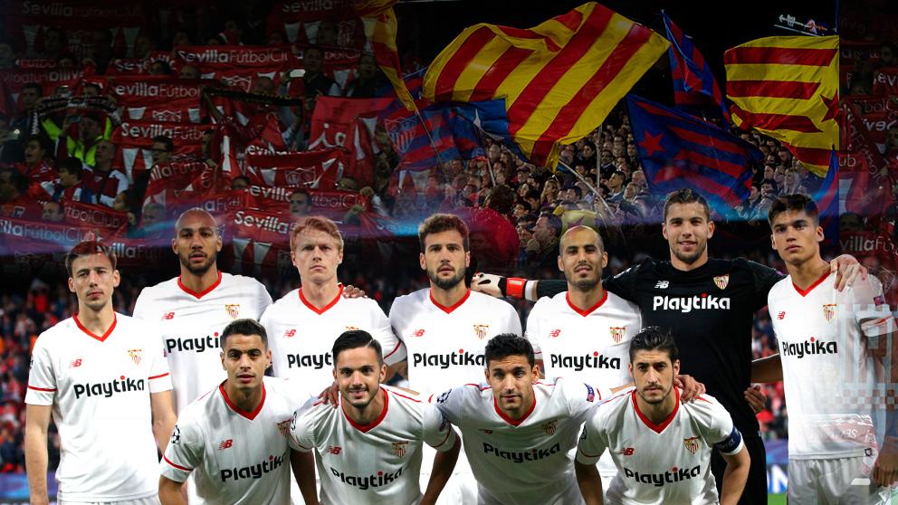 La afición del Sevilla sabe cómo contrarrestar la pitada de los simpatizantes del Barcelona al himno español | Final Copa del Rey 2018