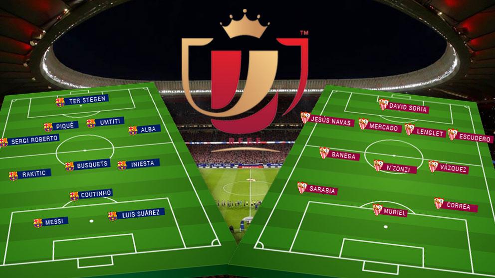 El duelo entre Sevilla – Barcelona dejará muy tocado al perdedor de Copa.