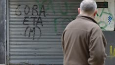 Pintada a favor de ETA en Hernani. (Foto: AFP)