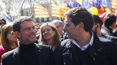 Manuel Valls y Albert Rivera. (Foto: AFP)