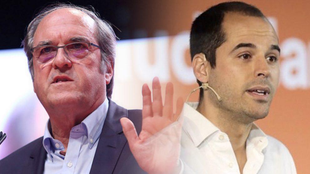 Ángel Gabilondo (PSOE) e Ignacio Aguado (Ciudadanos).