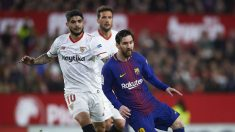 Banega y Messi pelean por un balón | Final Copa del Rey. (Getty)