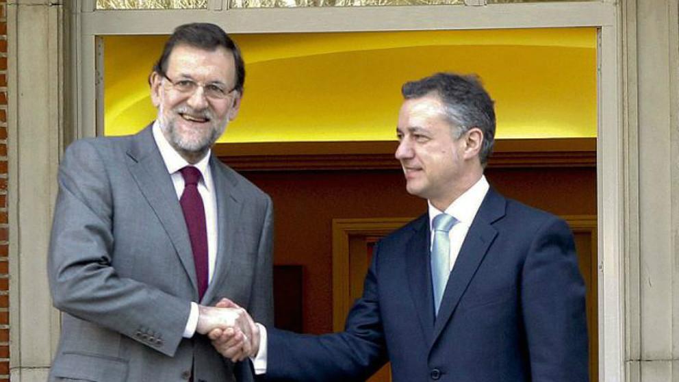 Rajoy y Urkullu en un encuentro en La Moncloa.   Pensiones 2018