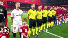 Momento en el que sonó el himno de España en el Sevilla – Barcelona de la final de la Copa del Rey 2018