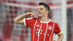 Lewandowski celebrando un gol con el Bayern (Getty)