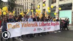 Manifestación separatista en Valencia.
