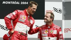 Michael Schumacher y Rubens Barrichello. (Getty)