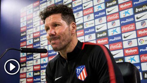 El Cholo Simeone durante la rueda de prensa. (EFE)