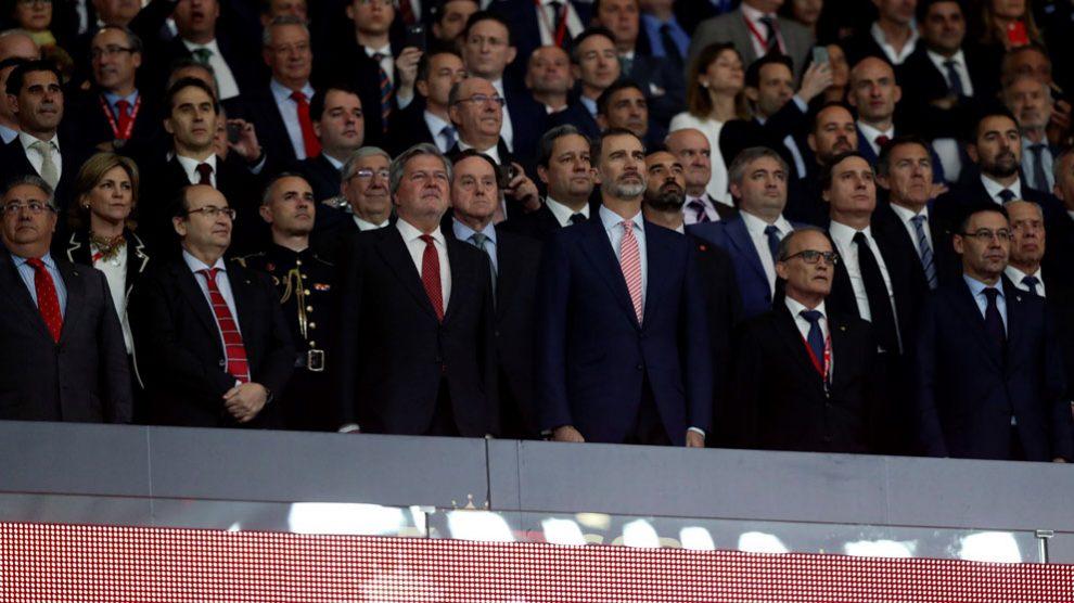 El Rey Felipe VI en la final de la Copa del Rey (Foto: EFE)