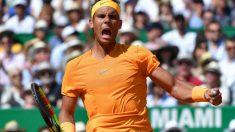 Rafa Nadal celebra su victoria en el Masters 1000 de Montecarlo. (AFP)