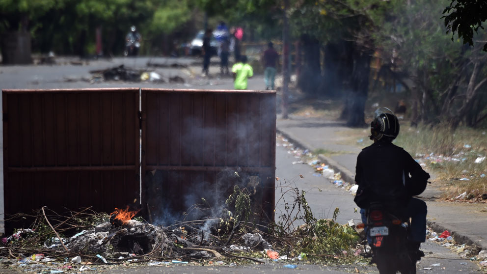 Disturbios en Nicaragua (Foto: AFP)