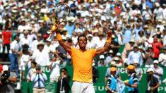 Rafael Nadal celebra la victoria en el Masters 1000 de Montecarlo. (Getty)