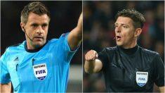 Rizzoli y Rocchi, arbitrando en Champions League.