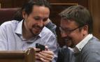 Xavier Domenech con Pablo Iglesias (Foto: EFE)