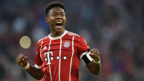 Alaba, en un partido del Bayern. (Getty)