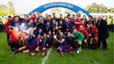 El Barcelona celebra su segunda UEFA Youth League: (F.C. Barcelona)