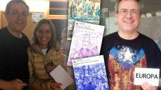 El profesor separatista Antoni Guasp y algunos de sus dibujos