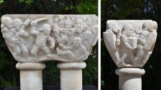 Conjunto escultórico en Gerona que representa las mentiras vertidas por el separatismo catalán acerca del 1-O
