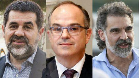 Los tres 'Jordis golpistas', Sànchez, Turull y Cuixart.