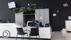 La sede de la Generalitat en Gerona sigue inundada de lazos golpistas