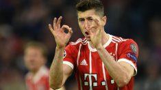Lewandowski celebra un gol con el Bayern. (AFP)