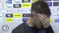 Álvaro Medrán se desploma y rompe a llorar en plena entrevista.