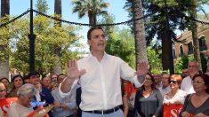Pedro Sánchez, líder del PSOE, en un acto en Huelva.