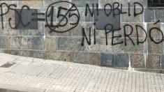 Pintadas separatistas en el domicilio del dirigente del PSC, Salvador Illa | Noticias de última hora Cataluña.