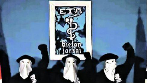 Tres terroristas de ETA, en uno de sus comunicados.