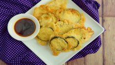 Receta de berenjenas en tempura.