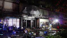 Karaoke incendiado en China.