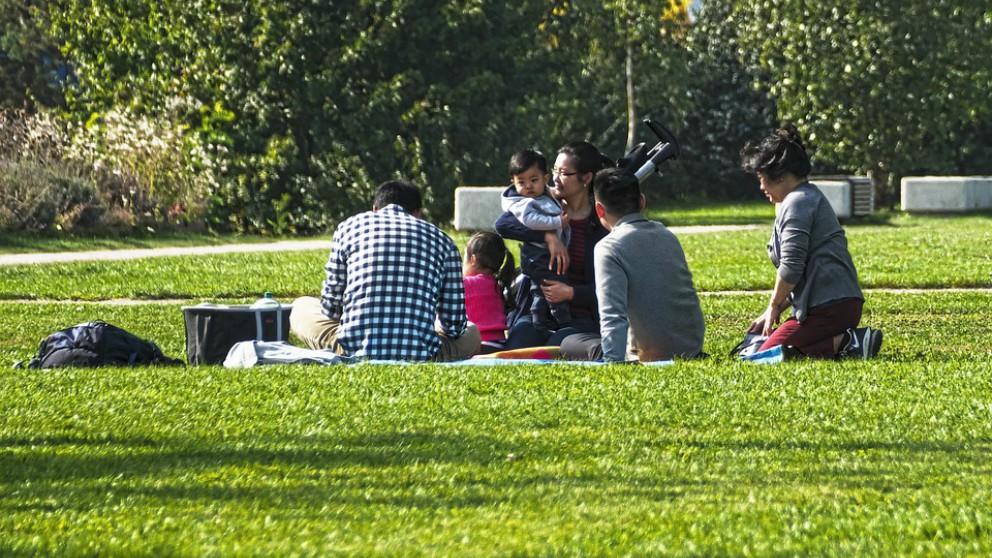 picnic con los hijos