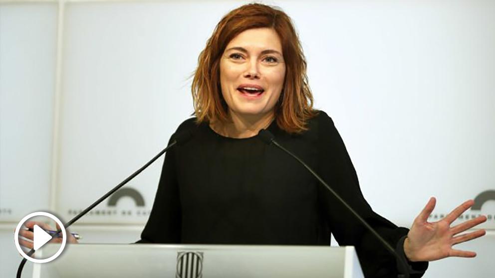 Elisenda Alamany, portavoz de CatECP en el Parlament. (Foto: EFE)