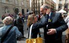 Elsa Artadi y Eduard Pujol en Sant Jordi