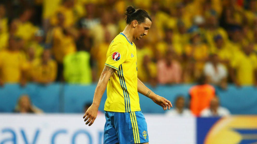 Zlatan Ibrahimovic, durante un partido con Suecia. (Getty)