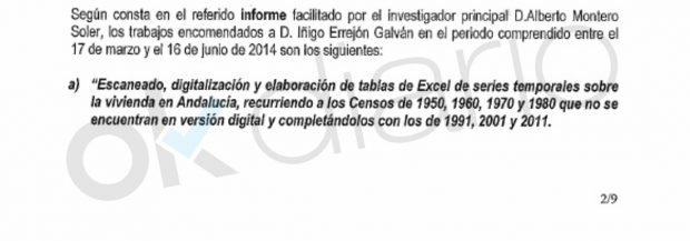 Expediente informativo abierto a Iñigo Errejón por la Universidad de Málaga por su beca en diciembre de 2014.