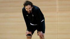 Llull, en un entrenamiento en la Ciudad Real Madrid.